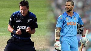 India vs NZ 1st ODI : Shikhar Dhawan out for 9 runs, Boult stikes for Kiwis