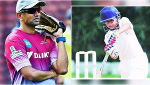 Rahul Dravid's son Samit Dravid going father's way
