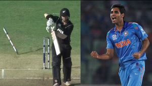 India vs NZ 2nd ODI : Kiwis lose their 6th wicket, Nicholls clean bowled by Bhuvi