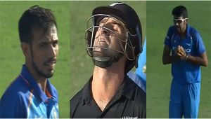 India vs NZ 2nd ODI: Grandhomme dismissed on 41 runs, Chahal tricks with wide delivery