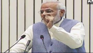 PM Modi defends demonetisation and low GDP rate