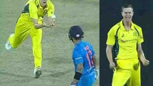 India vs Australia 2nd T20I : Virat Kohli dismissed for a 'DUCK',host in a heap of trouble