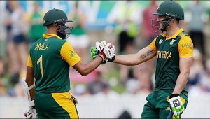 South Africa vs Bangladesh T20 : Two Hashim Amla seen batting during match