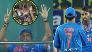 India vs Australia 1st T20I : MS Dhoni makes crowd go crazy, after Shastri signals no. 7
