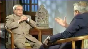 Pranab Mukherjee tells Rajdeep Sardesai to lower his voice during interview