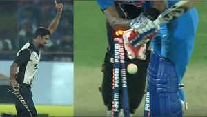 India vs NZ 2nd T20I : Hardik Pandya dismissed on 1 run, Sodhi strikes