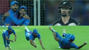 India vs NZ 3rd T20I : Rohit Sharma takes a stunning catch to dismiss Colin Munro