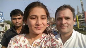Rahul Gandhi gets clicked by Bharuch girl, the incident comes as huge security lapse