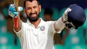 India vs SL 2nd test 2nd day : Cheteshwar Pujara scores 14th test ton in Nagpur