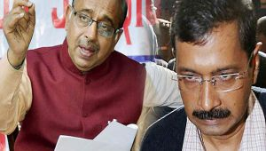 BJP leader Vijay Goel campaign against the AAP government for worsening air quality