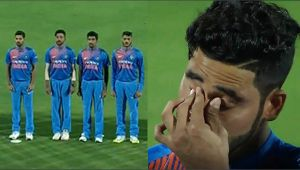India vs NZ 2nd T20I : Mohammed Siraj gets emotional after hearing National Anthem