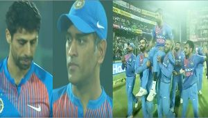 Ashish Nehra gets emotional farewell from Dhoni, Kohli and Team India
