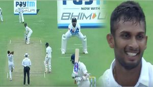 India vs SL 1st test 2nd day : Host lose Ajinkya Rahane early in the day