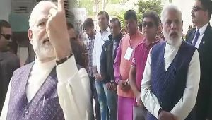 Gujarat Assembly poll : PM Modi cast his vote in Ahmedabad's Ranip locality, Watch