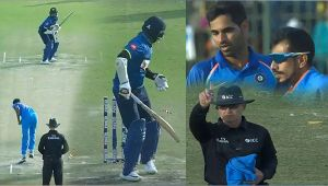 India vs SL 1st ODI : Thirimanne dismissed for a 'DUCK', Bhuvneshwar Kumar strikes