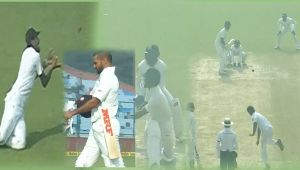 India vs SL 3rd test 1st day : Shikhar Dhawan play poor sweep, out on 23