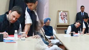 Rahul Gandhi files nomination for Congress President's post