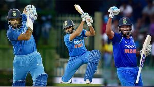 India vs SL 2nd ODI : Rohit Sharma slams 3rd one day double ton