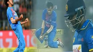 India vs SL 1st T20I: Angelo Mathews dimissed by Chahal, Lankans in deep trouble