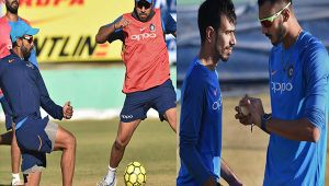 India vs SL 1st ODI: Men in Blue hit the nets before Dharamsala match, Watch