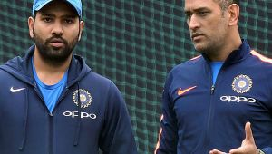 MS Dhoni is just class says Rohit Sharma, appreciates his batting effort at 4th spot