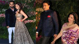 Anil Kumble attends Virat and Anushka's Mumbai reception sending fans into tizzy