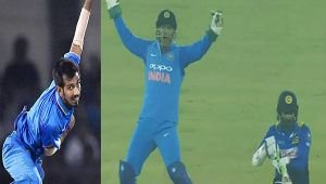 India vs SL1st T20I: MS Dhoni takes beautiful catch to dismiss Tharanga on Chahal's bowling