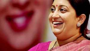 Smriti Irani could be named as the next Chief Minister of Gujarat