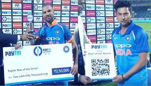 Shikhar Dhawan wins Man of the series, Kuldeep awarded Man of the Match