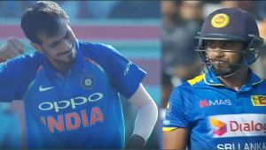 India vs SL 3rd ODI : Samarwickrama dismissed by Chahal, 100 run partnership ends