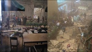 Jakarta : Indonesian Stock Exchange's floor collapse, many feared dead