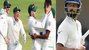 India vs South Africa 3rd test : Virat Kohli out for 54 runs , slams his 16th test 50
