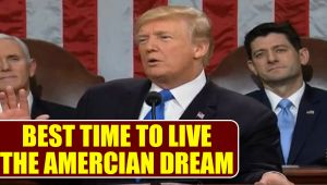 "Donald Trump says ""Never been a better time to live the American dream"", Watch"