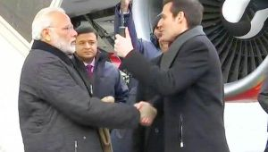 PM Modi in Davos : Modi arrives in Zurich, to meet Swiss President and Prime Minister