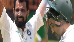 India vs South Africa 2nd test 4th day : Shami strikes again, Elgar out for 61 runs
