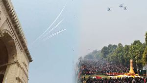Republic Day : Spectacular fly past by IAF fighter planes over Rajpath