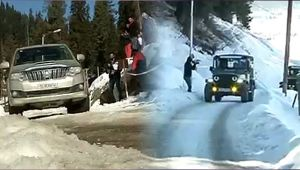 Frozen Rush : Two day snow car race organised in Gulmarg