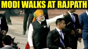 Republic Day: Narendra Modi interacts with people at Rajpath