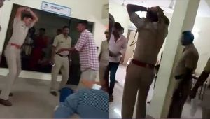 Karnataka police beat youth with belt inside police station, Watch Video