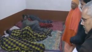 Yogi Adityanath takes a stock of situation of night shelters in Varanasi