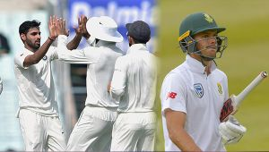India vs South Africa 1st Test : Bhuvneshwar Kumar strikes again, Markram LBW out