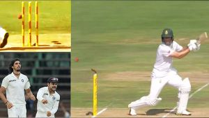 India vs South Africa 2nd test : AB de Villiers clean bowled by Ishant Sharma
