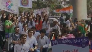 Mega rally organised in Surat to spread awarness against drugs