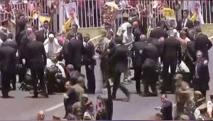 Pope Francis comes to aid of policeman after he falls from horse, Watch