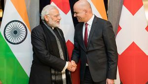 PM Modi meets Swiss President Alain Berset in Davos, Watch Video