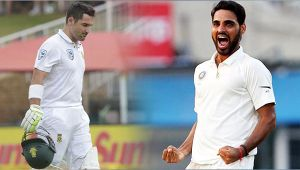 India vs South Africa 3rd test 2nd day : Bhuvneshwar Kumar dismisses Elgar for 4 runs