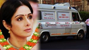 Sridevi : Arjun and Boney Kapoor present in the ambulance with mortal remains