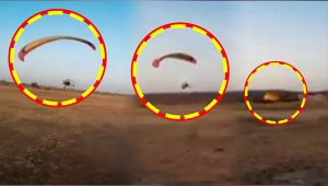 Paramotor carrying two people crashes soon after takeoff, Watch