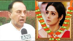 Sridevi : Subramanian Swamy raised questions over actress's untimely passing away