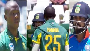 India vs South Africa 3rd ODI : Rabada sledges Virat Kohli after not out decision